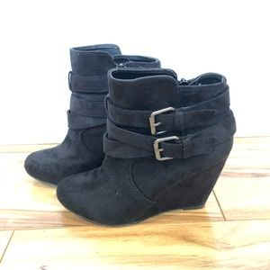 Nine West Buckle Booties